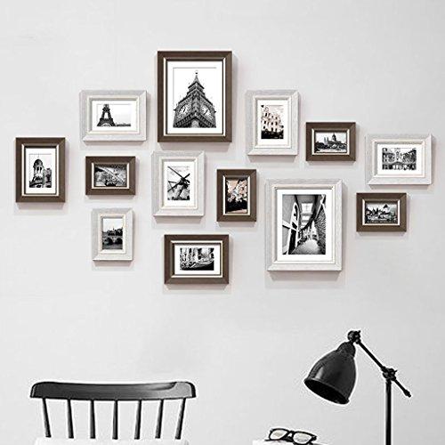 Unbekannt Bilderrahmen Fotorahmen-Wand-Galerie-Kit enthält: Perfect Frame, hängende Wand-Schablone, Rahmen, Kunst-Malerei-Kern, Foto-Wand