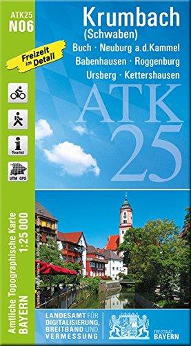 ATK25-N06 Krumbach (Schwaben) (Amtliche Topographische Karte 1:25000): Buch, Neuburg a.d.Kammel, Babenhausen, Roggenburg, Ursberg, Kettershausen (ATK25 Amtliche Topographische Karte 1:25000 Bayern)