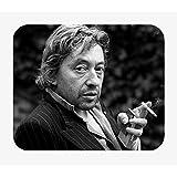 Tapis de Souris Photo de Star Célébrité Serge Gainsbourg Chanteur Musique Original 2