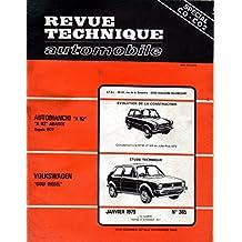 REVUE TECHNIQUE AUTOMOBILE N° 385 VOLKSWAGEN GOLF DIESEL
