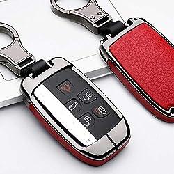 JIRENSHU Auto Schlüsselbund Fall Halter, für Jaguar XE XF XJ F PACE, für Land Range Rover Sport Discovery Sport Evoque Freelander 2