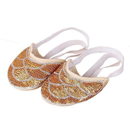 Erwachsene Ballett Bauch Tanzen Halbsohlen Schuhe Fitness Trainieren Einlegesohlen Neutral Zehenpolster 2Er Pack . 6 . (Plus Bauchtänzerin Size Kostüm)