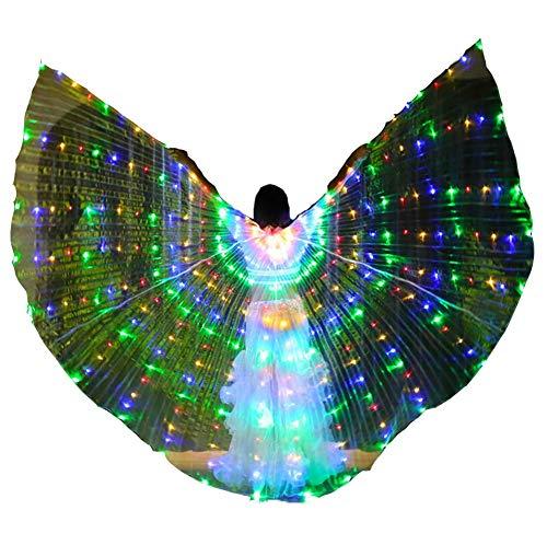 Jolie Bauchtanz-Flügel + Sticks Isis Wings für Frauen Mädchen Ägypten Bauchtanz Kostüm Professionel Tanzabnutzung (Professionelle Bauchtanz Kostüm Ägypten)