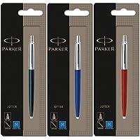parker Parker Jotter 3 colores Negro 1 + 1 + 1 Azul Rojo azul del bolígrafo de tinta