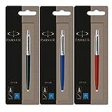 parker parker Parker Jotter 3 Farben 1 Black + 1 Blue + 1 Red Kugelschreiber blaue Tinte