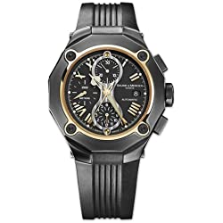 Baume & Mercier 8758 - Reloj de pulsera hombre, Caucho, color Negro