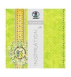 Ursus 703000200 - Premium Glitter Scrapbook paper Garden, ca. 30,5 x 30,5 cm, 5 Blatt, Motiv 200