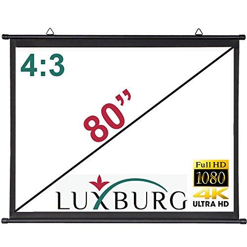 Luxburg Projektor-Leinwand, 162 x 122 cm, 4K, 3D-Projektor-Leinwand - Mattes weißes Gewebe, 4:3 (65
