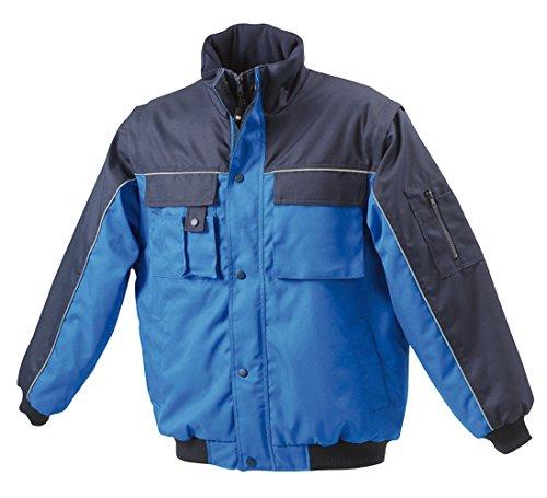 JN810 Workwear Jacket Robuste, wattierte Herrenjacke mit abnehmbaren Ärmeln Royal-Navy