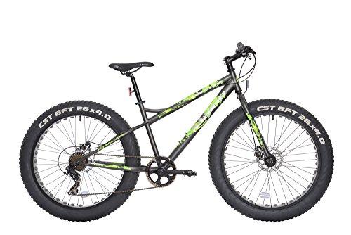 Maino Himalaya, Bicicletta MTB Fat Unisex – Adulto, Antracite, 43