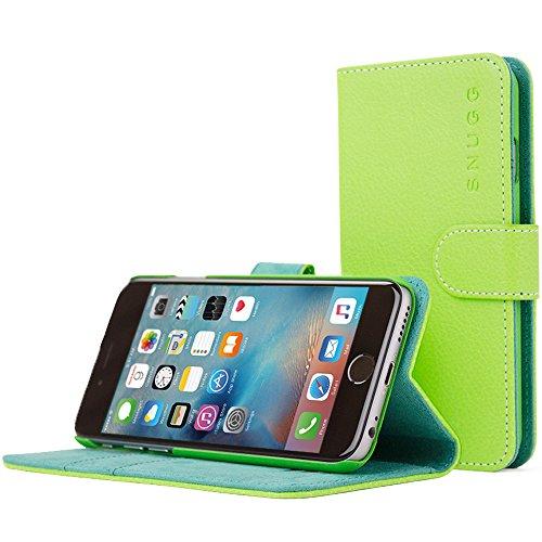 Snugg iPhone 6 und 6S Hülle, Apple iPhone 6 und 6S Handyhülle mit Kartenfach und Standfunktion - Grün, Legacy Range