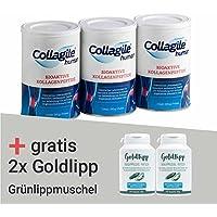 Collagile human (3 Dosen) & 300 Kapseln der Grünlippmuschel von Goldlipp gratis