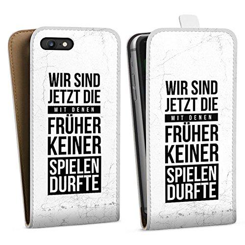 Apple iPhone X Silikon Hülle Case Schutzhülle Humor Spaß Sprüche Downflip Tasche weiß