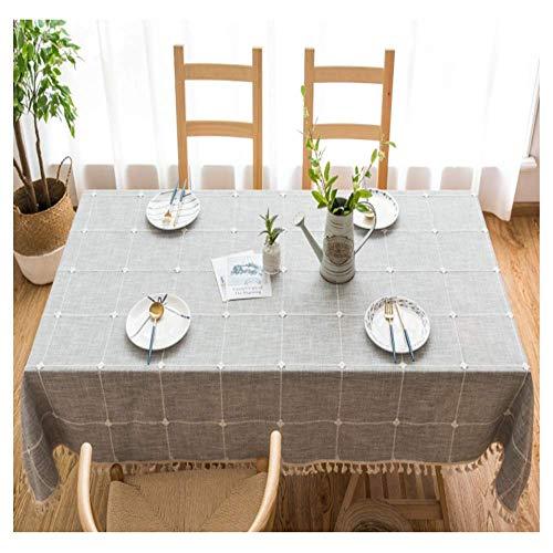 SONGHJ Dot Plaid Dekorative Tischdecke Quasten Esstisch Abdeckung Party Hochzeit Home Küche Rechteckige Tischdecke Eine 140x140 cm (Tischdecken Dollar Store)