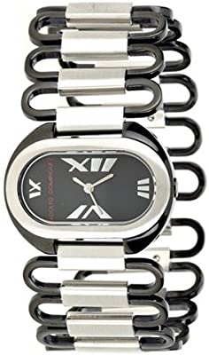 Adolfo Dominguez Watches 69023 - Reloj de Señora cuarzo brazalete metálico dial Negro