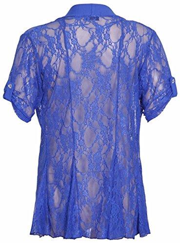 Top Fashion18 - Gilet - Femme Bleu - Bleu marine
