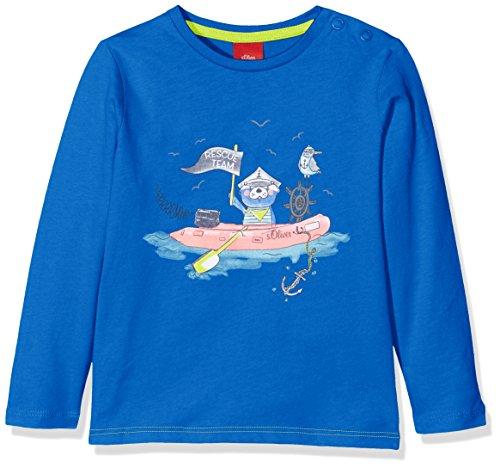 s.Oliver Baby-Jungen Langarmshirt 65.802.31.7914, Blau (Blue 5526), 74