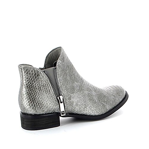 Low-boots à motifs croco Gris