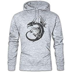 Tribal Dragon II Hoodie Sudadera con Capucha Sweatshirt Tamaños S – 2XL
