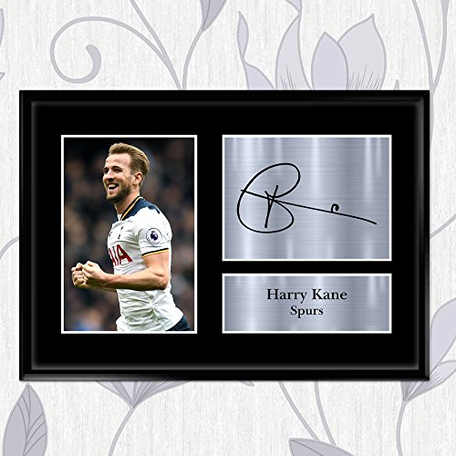 INSPIRED WALLS Inspiriert Wände Harry Kane Geschenk Signed Bedruckt Geschenke Autogramm, Tottenham Hotspur Spurs Foto Display A2A3A4A5, A4 (297 x 210 mm)