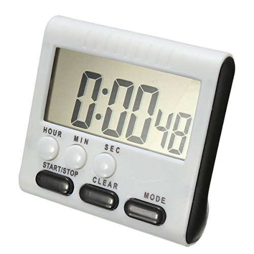 Beetrie Kitchen Timer Alarm Magnetic Large LCD Digital Count Up Down Egg Clock 24 Hours for Home House Cooking Dinner Lunch Breakfast