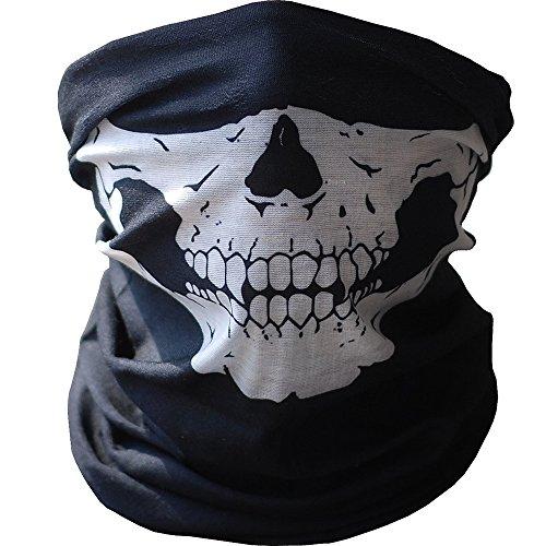 - Halbe Schädel Gesicht Halloween Kostüm