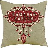 Ababalaya Baumwollleinen Mandala Kissenbezüge ethnischen Sofa Kissen dekorativer Überwurf-Kissenbezug 45×45 cm,A