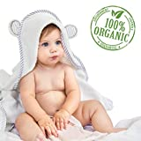 Toalla con capucha para bebés hecha de bambú orgánico – Material ultra suave con capucha con orejas especial para bebés – Material hipoalergénico: toalla perfecta para bebés de San Francisco Baby