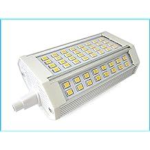 Lampada Led R7S RX7S Lineare 118mm 30W=300W Bianco Caldo Con Ventilatore 220V 64 Smd 2835 0,5W