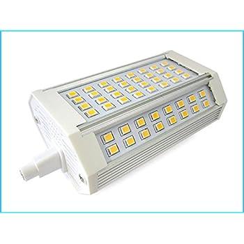 Lampada led r7s rx7s lineare 118mm 30w 300w bianco caldo for Lampada alogena lineare led
