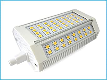 lampada led r7s lineare 118mm 30w 300w bianco caldo con On lampada a led r7s 118mm
