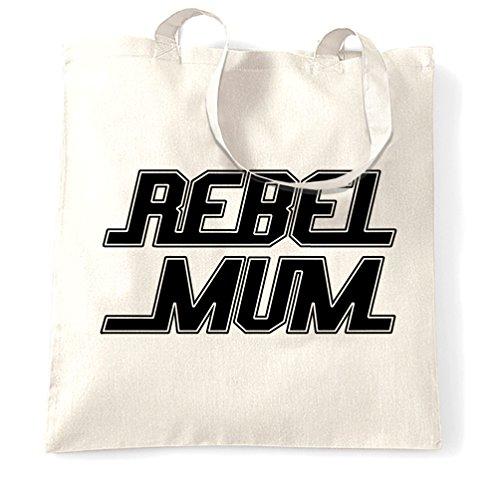 Ribelle Mamma Sci Fi Fan Fiction Cool Mamma Stampato Slogan Quote Design Borsa Per Il Trasporto Bianco