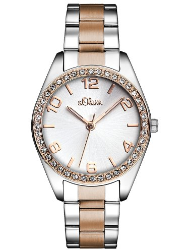 S.Oliver Women's Analogue Quartz Watch with Stainless Steel Strap – SO-2774-MQ