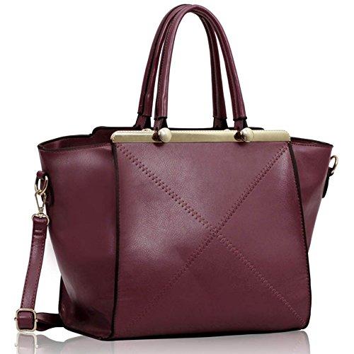 LeahWard® Damen Große Größe Berühmtheit Stil Tragetaschen nett Damen Schultertasche Handtaschen 180 Tragetasche-Lila