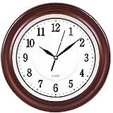 RFVBNM Creative orologio moda mute pastorale continentale antico salotto orologio a pendolo orologio in legno grafici per parete