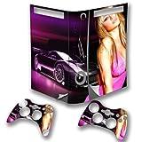 Sexy Car, Designfolie Sticker Skin Aufkleber Schutzfolie mit Farbenfrohem Design für XBOX 360 Fat