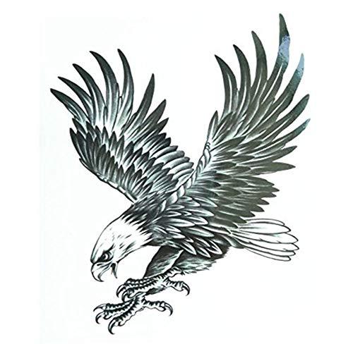 Cdet 2X Tätowierung Temporäre männer Frauen Arm Temporäre Tattoos Brustaufkleber Aufkleber Körperkunst Kleine Körper Tattoo Aufkleber Size 21 * 15cm (Adler)