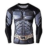 16023 - T-Shirt à Manches Courtes pour Hommes avec imprimé Batman pour Homme - (M)