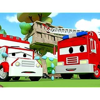Der Krankenwagen und Streifenwagen Feuerwehrauto und Polizeiauto