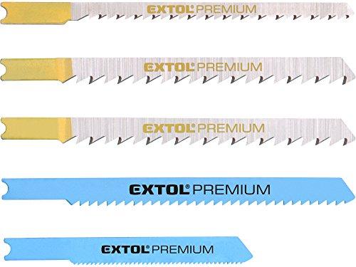 EXTOL PREMIUM Blätter für Gattersägen Mix, Set 5 Stck, Aufnahme Universal, Bimetall, HSS, HCS