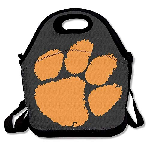 Clemson Football Logo Lunch Bags Insulated Travel Picnic Lunchbox Tote Handbag with Shoulder Strap for Women Teens Girls Kids Adults -