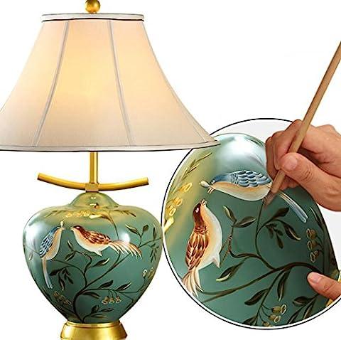 Lozse Ceramic, European, desk lamp, bedroom, bedside lamp, living room,