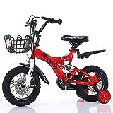 Kinderfahrräder Einräder Fahrrad der Kinder 2-8-jähriger Kinderwagen Kinderpedalfahrrad Jungenmädchen trägt Fahrrad zur Schau (Color : Red, Size : 12Inch)