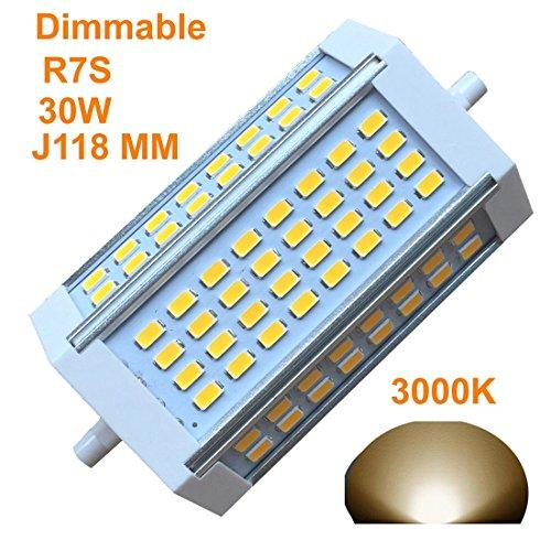 Generic R7s-J118118mm dimmbar Glühbirne 60W Warm Licht 3000K AC220V 3000LM, doppelte Enden J-Floodlight, R7s, 200W, 300W, 400W Halogen-Ersatz (3000K - Glühbirne Typ J