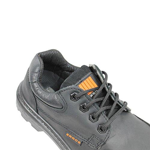 Manchester Ergos Noir 2 S3 SRC protagonista, scarpe, lavoro scarpe, business scarpe, piatto nero Nero (nero)