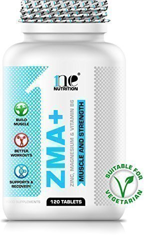 1ne Nutrition ZMA 120 Tablets Nighttime Recovery Support Muscle Growth + Strength Testosterone Booster (Zinc + Magnesium + Vitamin B6 + Vitamin C)
