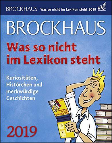 Brockhaus was so nicht im Lexikon steht - Kalender 2019 - Harenberg-Verlag - Tagesabreißkalender - 12,5 cm x 16 cm