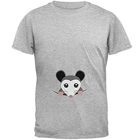 Spähen Possum Halloween Kostüm Herren-T-Shirt Heather 2XL (Old Man-kostüm Für Baby)