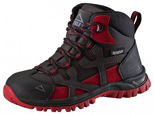 McKinley Trek Stivali di Santiago Pro AQX JR, anthracite/ rot dark, 35 anthracite/ rot dark