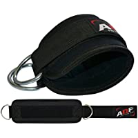 AQF Ankle Strap Cuffs Workout Cuff Straps Cable Machine Double Ring Lifting Attachment Multi Gym Leg Thigh Pulley D-Ring